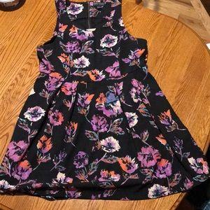 Black structured floral dress